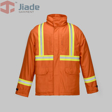 Jiade 100% FR cotton Work Winter Jacket  Flame Resistant welding clothing Long Sleeve Jacket Men's Work Winter Papka