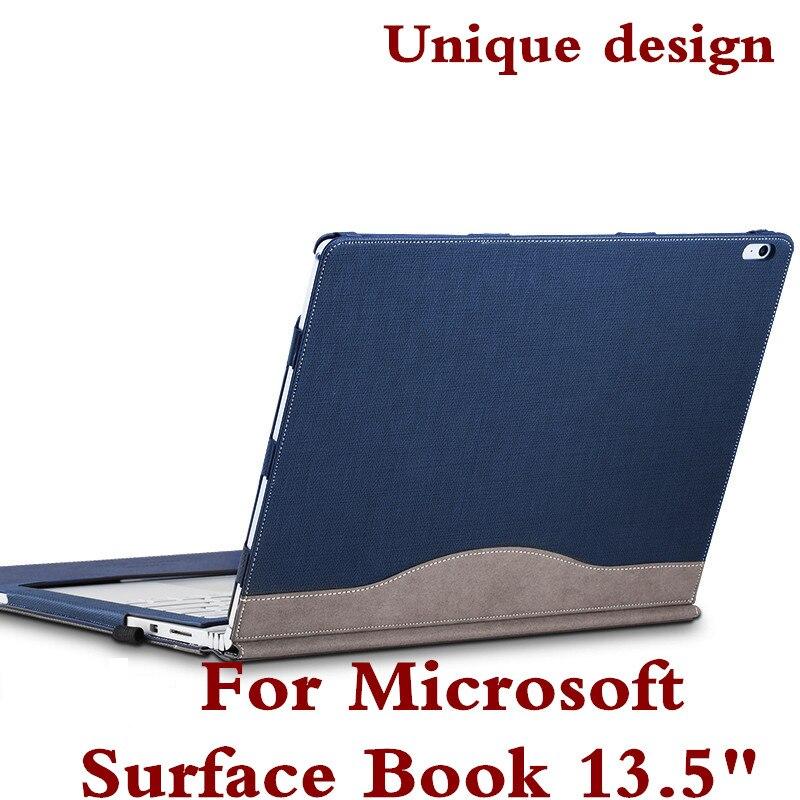 Cubierta desmontable para Microsoft Surface book2 libro 13.5 Tablets portátil caso de manga pu cuero protector de la piel cubierta del teclado regalo