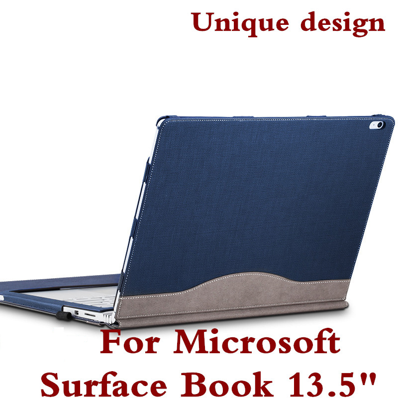 Detachable Cover For Microsoft Surface Book2 Book 13.5 Tablet Laptop Sleeve Case PU Leather Protective Skin Keyboard Cover Gift for microsoft surface book 13 5 sleeve bag embossed crocodile genuine leather detachable flip case black skin for surface book