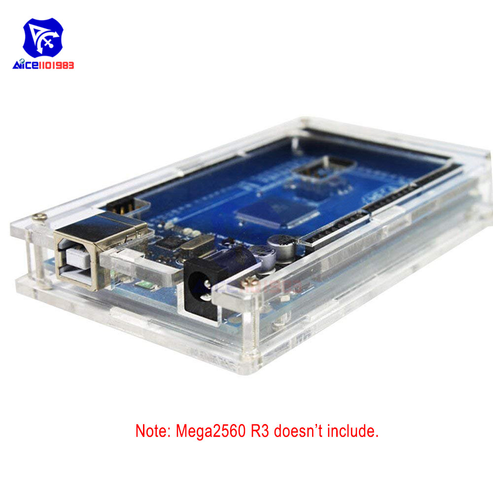 Acrylic Transparent Hard Case Enclosure For Arduino UNO R3 MEGA 2560 R3 Protective Shell Cover