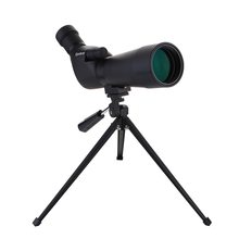 лучшая цена 20-60x60 Waterproof Spotting Scope Birdwatch Hunting Monocular Portable Travel Scope Monocular Telescope with Tripod for Camping