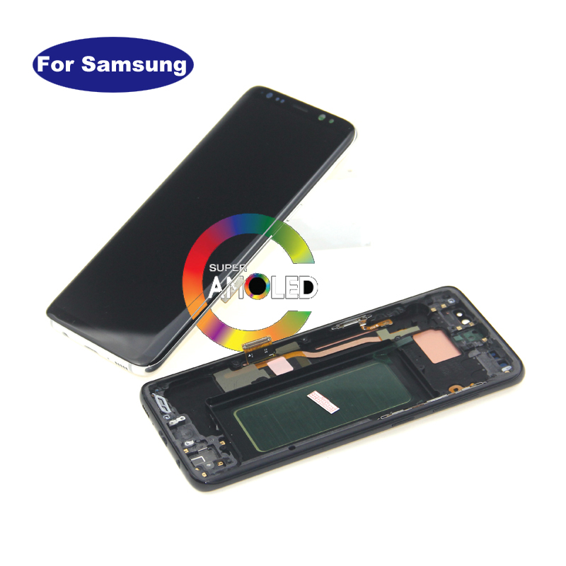 100% Tested For <font><b>Samsung</b></font> Galaxy <font><b>S8</b></font> G950F G950A <font><b>G950FD</b></font> lcd <font><b>display</b></font> with touch screen Digitizer Super AMOLED Screen image