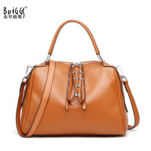 BRIGGS Brand Women Handbag Genuine Leather Tote Bag Female Business Shoulder Bags Ladies Handbags Messenger Bag pyaterochka new 2018 genuine leather handbag for women high quality luxury shoulder bags ladies business satchels brown tote bag