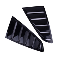 Side Black ABS Deflector Vent Window Scoop Louver Cover Trim Sticker Fit For Ford Mustang 2015 2018 Car Styling Accessories