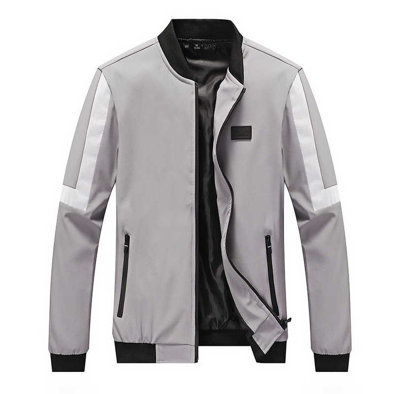 Jacket Men Casual Striped Baseball Jacket Spring Autumn Fashion Slim Fit Men Jacket Thin Jackets Brand Casual Coat