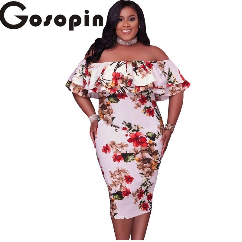 gosopin off shoulder dresses 2017 floral layered ruffle. Black Bedroom Furniture Sets. Home Design Ideas