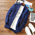 Solid Mens Sweaters Cardigan Male Blue Winter Wool  Pullovers Preppy Style Regular Standard Long Mens Cardigans Outerwear Coats