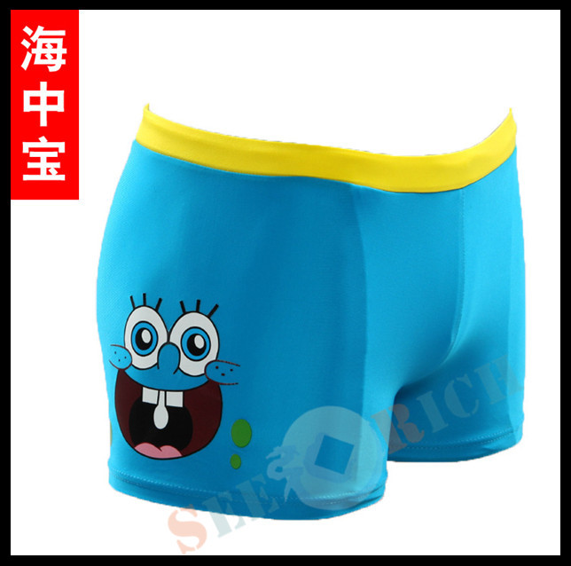300p!Top Children Cute Cartoon Boxer Trunks Swimwear Cartoon Board Shorts Boy's Beach Hot Springs Swimwear For 1-10ages