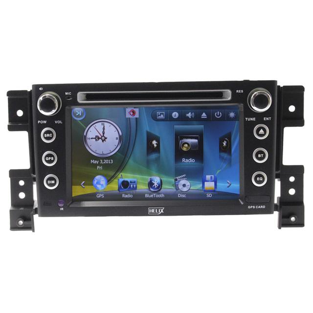 O envio gratuito de rádio do carro para suzuki grand vitara 2005 com carro Dvd Player Bluetooth Agenda Telefônica Ipod RDS USB 2 Din7 Polegadas Dual núcleo
