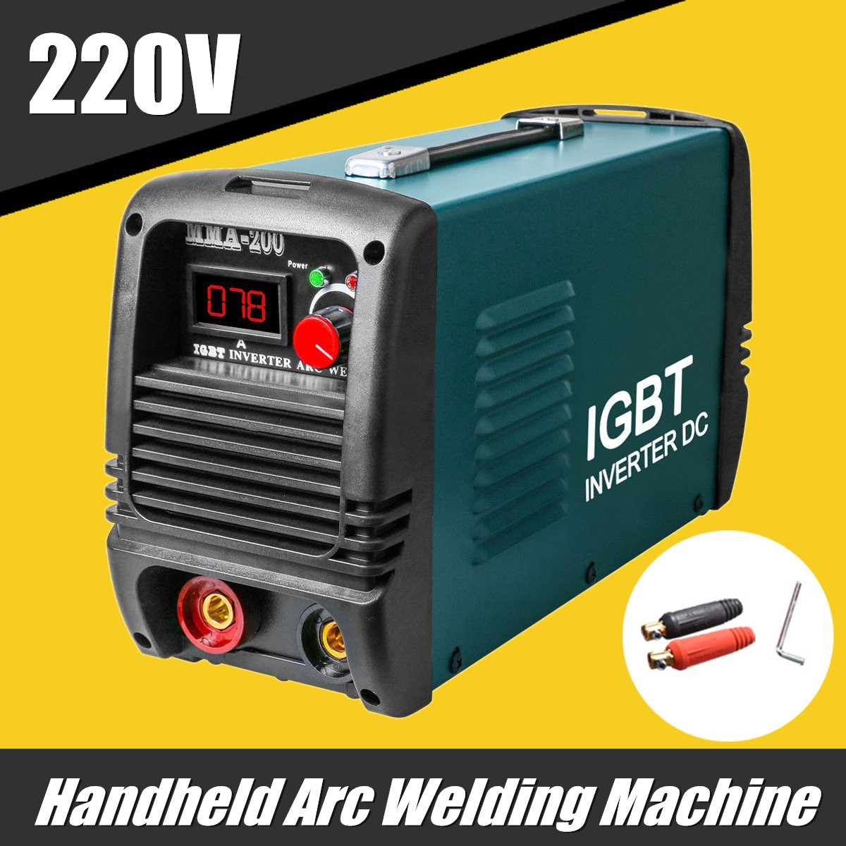 цена 220V MMA/ZX7-200 ARC Welding Machine Arc Welders Inverter Welders IGBT Mini Handheld Portable Welding Machine