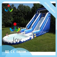 Outdoor inflatable slide with small pool for kids,inflatable kids slide on sales