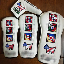 NEWEST GOLF HEAD COVER Woods1# #3 #5 AND Putter Clubs Headcovers 4 PCS/LOT FREE SHIPPING