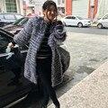 BF-FUR 2017 Nueva Real de Piel De Zorro Chaleco de la capa de Las Mujeres Outwear Natural Silver Fox Gilet Piel Chaleco Chaleco De Piel Genuina Completo 103114