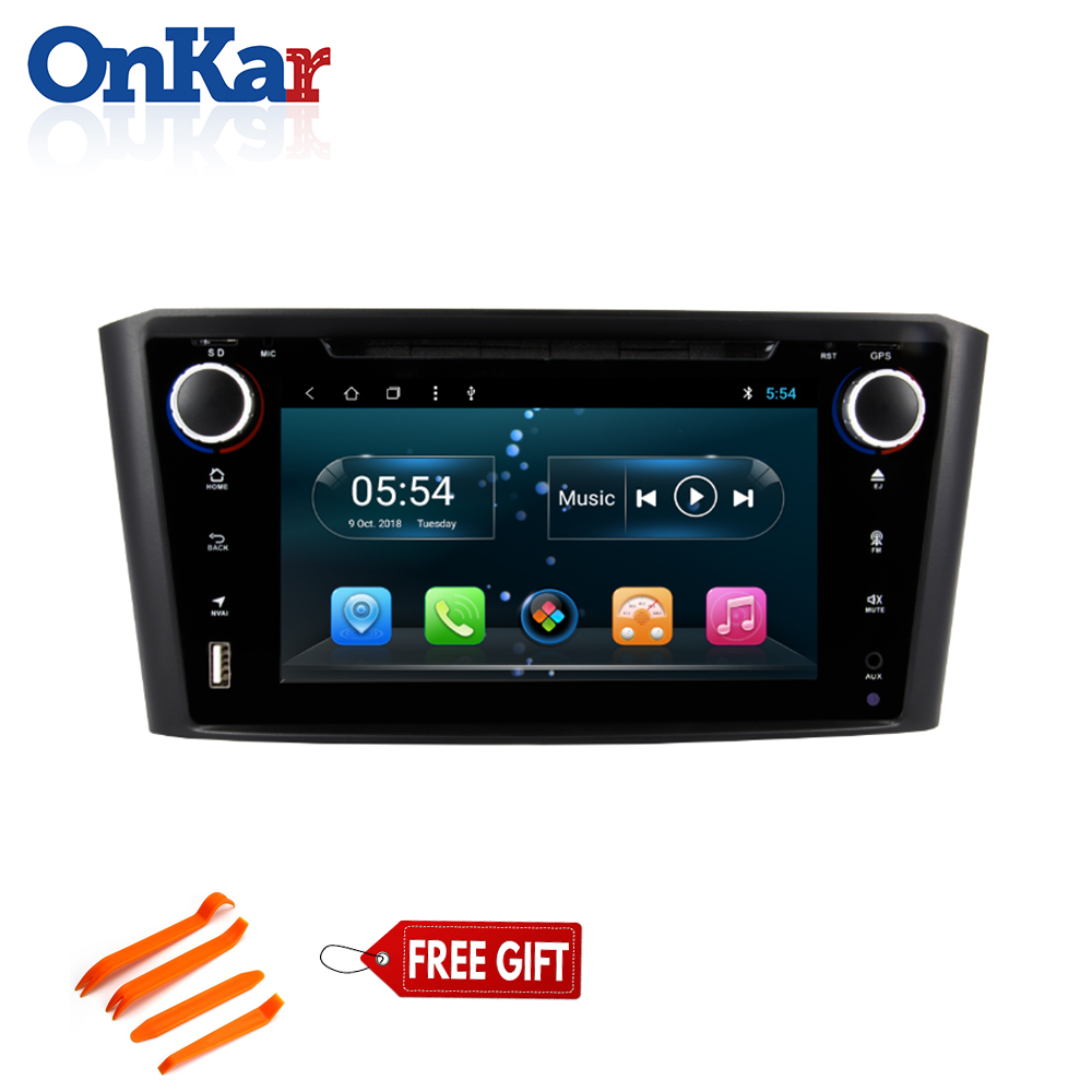 ONKAR 2 din Car Radio For <font><b>Toyota</b></font> Avensis 2003-2008 <font><b>T25</b></font> with 7 inch <font><b>android</b></font> 9.0 2GB 32GB Support Rear View Camera TPMS DVD Player image