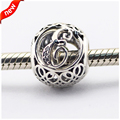 Fits for Pandora Bracelets Alphabet E Charms with Clear Cubic Zirconia 100% 925 Sterling Silver Beads Free Shipping