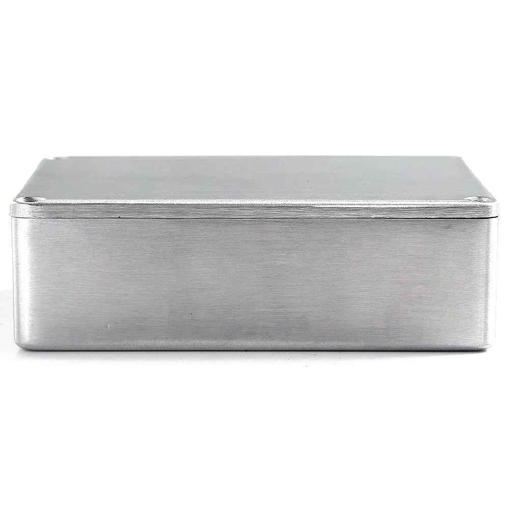 1590BB aluminium métal Stomp boîte boîtier boîtier guitare effet pédale lot de 3 avec 4 vis