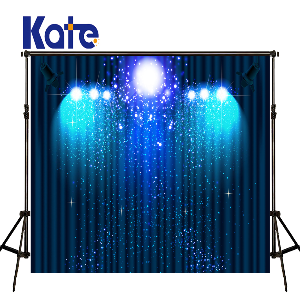 KATE Photography Background 5x7ft Blue Light and Curtain Backdrop Kids Christmas Stage Backdrops for Children Photo Studio cooler zalman cnps90f 775 1156 1155 1150 am2 am2 am3 am3 fm1 fm2 754 939 940 низкопрофильный