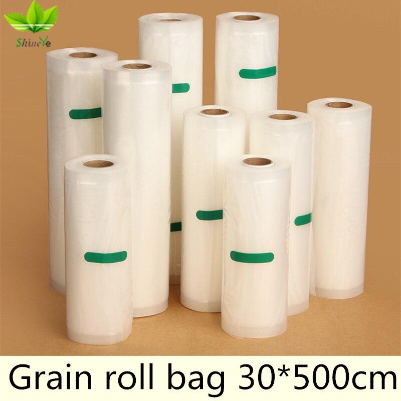 30*500cm/Roll Vacuum Bag Fresh - keeping Bag Food Preservation Bag Storage Bag 1 Roll fresh keeping vacuum wine bottle stopper black transparent