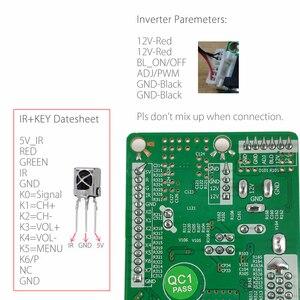 Image 4 - Programa gratuito T HD8503.03C Universal TV LCD Placa de controlador de TV/AV/VGA/HDMI/USB + 7Key + botón 1ch 6bit 40 pines cable lvds 8503