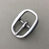 Stainless Steel Buckle For Halter Leather Garment 18mm Inner Width 20 Pieces Per Pack