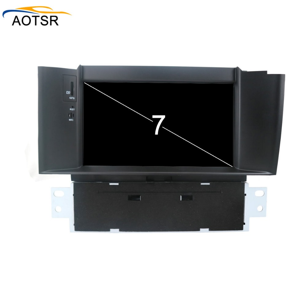IPS Screen Android 8.0 Car multimedia dvd player head unit For Citroen C4 C4L DS4 2011 - 2015 GPS Navigation radio auto stereo image