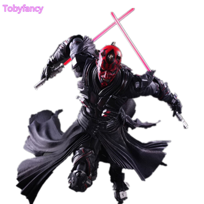 Star Wars Action Figure Play Arts Kai Darth Maul Collection Model Toys Anime Star Wars Darth Maul PA Kai Figurine Toy hot selling 65cm japan craftholic colourful rabbit plush toy doll creative gift free shipping