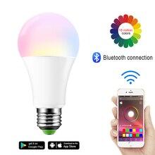 AC85-265V Bluetooth Dimmable LED Light Bulb E27 B22 Led Light Spotlight 7W RGB Magic Light Bulb Lamp for Home Lighting bluetooth rgb magic light bulb lamp wake up lights 110v 220v 85 265v e27 b22 rgb led bulb 16 color magic led night light lamp