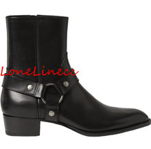 Genuine Leather New Men Flat High Top Chelsea Boots Side Zipper Cool Suede Men Style Ankle Boots Size 12 Round Toe Rome Male new arrival man handmade flat platform shoes genuine leather round toe carved men s cowboy riding high top ankle boots js22