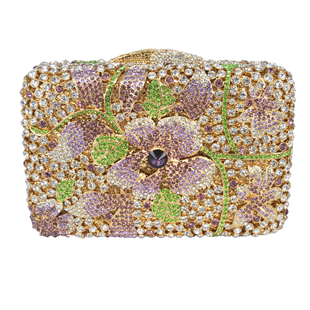 Silver Ladies Bling Bag Flower Pattern Evening Bag Blue Luxury Crystal hollow out Evening Clutch Bag gold crystal Clutch 88364Silver Ladies Bling Bag Flower Pattern Evening Bag Blue Luxury Crystal hollow out Evening Clutch Bag gold crystal Clutch 88364