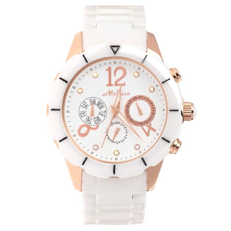 GUANQIN Топ Роскошный бренд керамические женские часы ультра тонкие водонепроницаемые кварцевые часы Повседневная мода белое платье часы жен... - 5