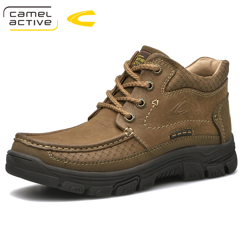 Camel Active New Outdoor Winter Snow Boots High Quality Mens  Riding Boots Luxury Genuine Cow Leather Fashion Ankle BootsSnow Boots