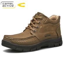 Camel Active новые зимние уличные ботинки, высококачественные мужские ботинки для верховой езды, роскошные модные ботильоны из натуральной коровьей кожи