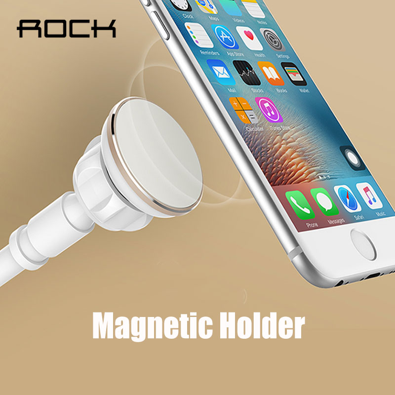 ROCK Universal Magnetic Phone Holder Stand for iPhone Samsung Xiaomi Phone Lazy Magnetic Tablet Holder bracket