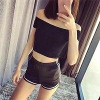6 Colors Summer Women Casual Cotton Cozy Multi Pure Color Breathable Elastic Waist Shorts