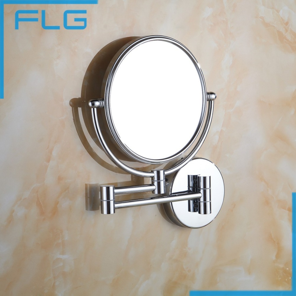 Makeup Mirrors Wall Mounted Extending Folding Single Side Mirror 3x Magnification Chrome Bath mirror Toilet Mirror