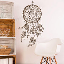 Art  Wall Sticker Hippie Boho Bohemian Feather Decor Vinyl Removeable Poster Native Dreamcatcher Ornament Mural LY175
