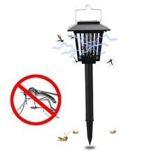 Solar Mosquito Catcher Insect Killer LED UV Mosquito Killer Environmentally Lamp Outdoor Garden Insect Pest Bug Zapper Killer