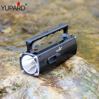yupard XM L2 T6 LED yellow light Waterproof Flashlight underwater Diving torch diver swiming lantern 100m spotlight+Charger