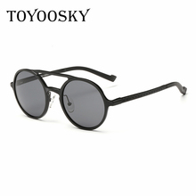 TOYOOSKY Magnesium aluminum Pilot Sunglasses Men Brand Driver Metal Polarized Sun glasses Black SunGlass Polaroid For Man