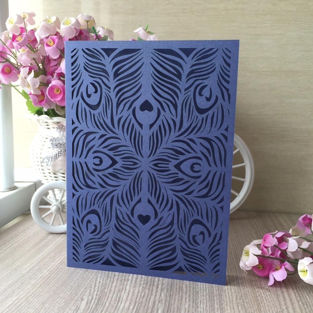 50pcs navy blue color glossy shiny paper wedding birthday