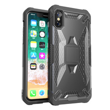 Hybrid TPU + PC Armor Phone Cases For iPhone 7 8 Plus 6 6S Plus Robot Shockproof Case For iPhone X XS MAX XR Back Cover Fundas цена