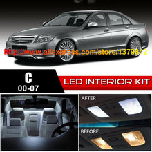 Free Shipping 14Pcs/Lot 12v Xenon White/Blue Package Kit LED Interior Lights For 00-07 Mercedes C Class