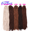 "Pure color 1pack/lot 20"" 95g synthetic soft dreadlocks braids in #27/30/4/613 color pre crochet dreadlock extension HANNE Hair"