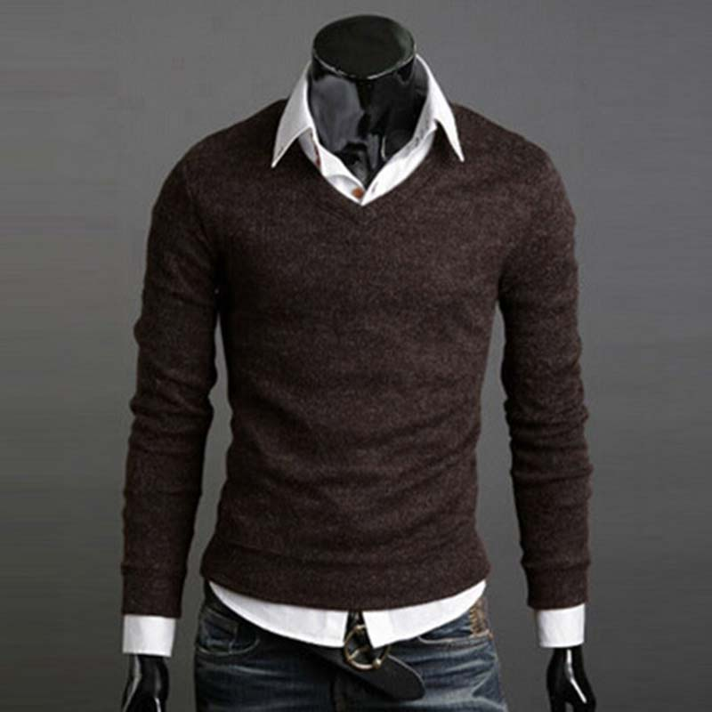 Man-Sweater-Autumn-Winter-Warm-Male-Knitwear-Long-Full-Sleeve-Pullover-V-Neck-Fit-Knitting-Guy