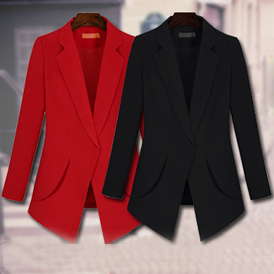 2017 spring autumn women slim blazer jacket ladies blazer femme veste tailleur korean ladies. Black Bedroom Furniture Sets. Home Design Ideas