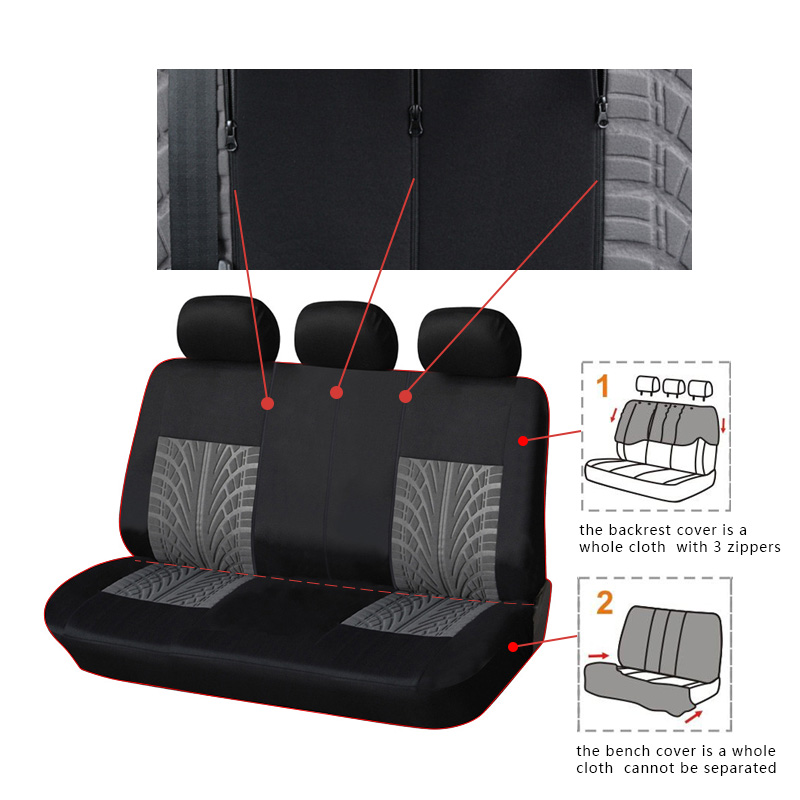 Image 2 - AUTOYOUTH Car Rear Seat Cover Polyester Universal Automobile Back Seat Cover For Seat Protector Auto Decoration Accessories-in Automobiles Seat Covers from Automobiles & Motorcycles