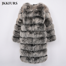 цена Double 11 BIG SALE Women's Winter Fur Coat Real Fox Fur Long Jacket Fashion Genuine Natural Fur Outwear Thick Warm Fur S7439 онлайн в 2017 году
