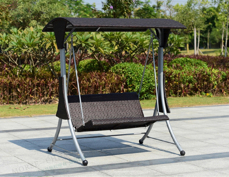 2 Person High Quality Wicker Garden Leisure Swing Chair Outdoor Hammock  Patio Leisure Cover Seat Bench
