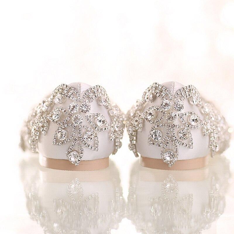 Satin Flat Heels Talon Mariage Formelle Mariée Chaussures White Plat Diamant Mère La Blanc De Femmes Heels Robe Mode Strass red aYdqxwTaA