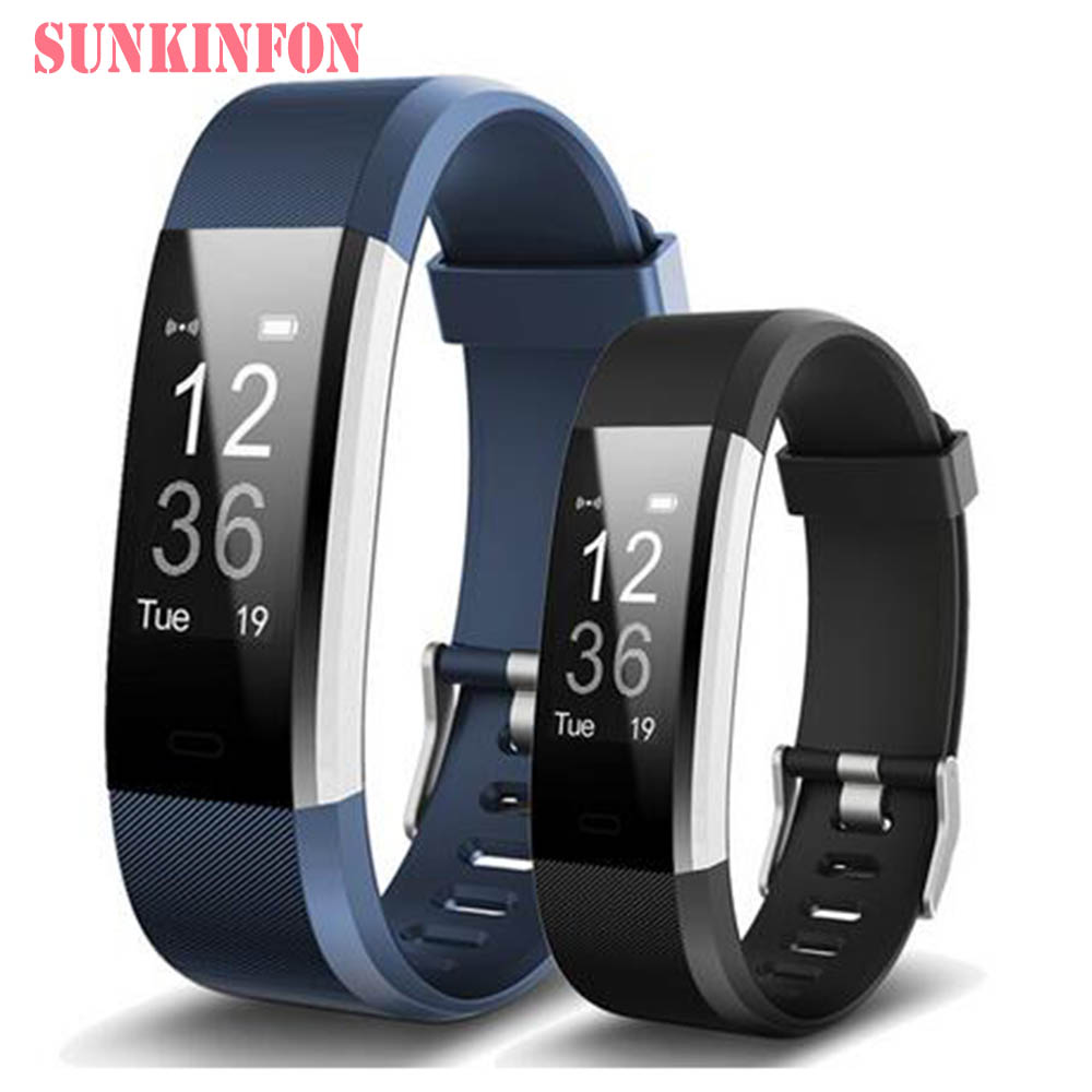 ID115 HR Plus Bluetooth Smart Wristband Bracelet Fitness Sleep Tracker Pedometer Heart Rate Monitor for Cubot X15 X12 X17 X9 X6 x9 plus smart bracelet green